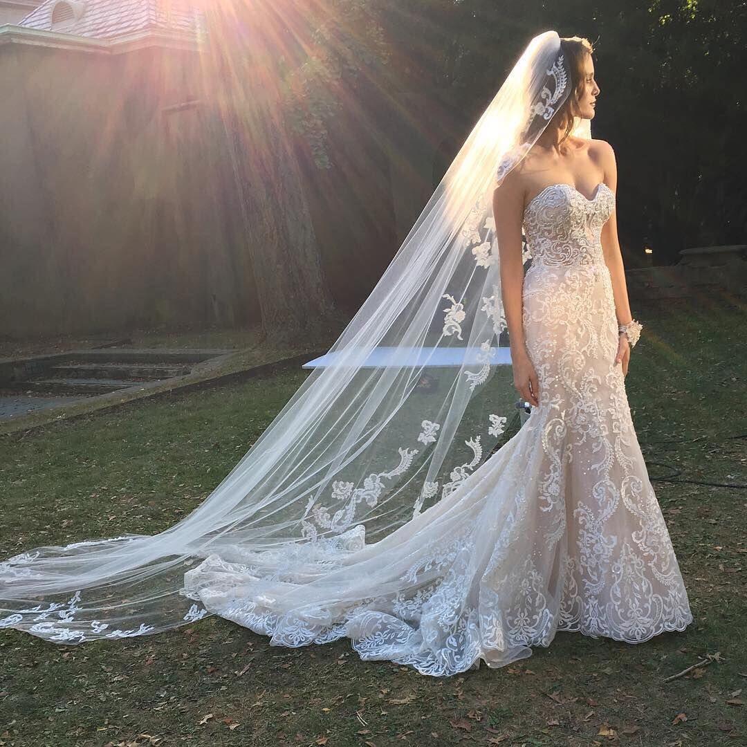Eveofmilady Wedding Dresses Elegant Bridal Gown Lace Mermaid Wedding Dress [ 1080 x 1080 Pixel ]