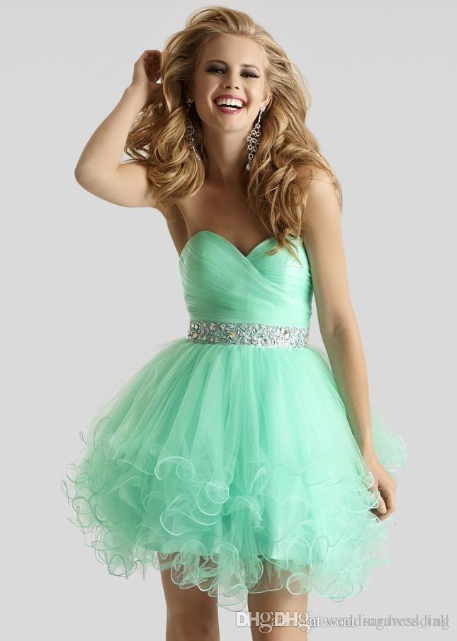 Short Green Homecoming Dresses 2015