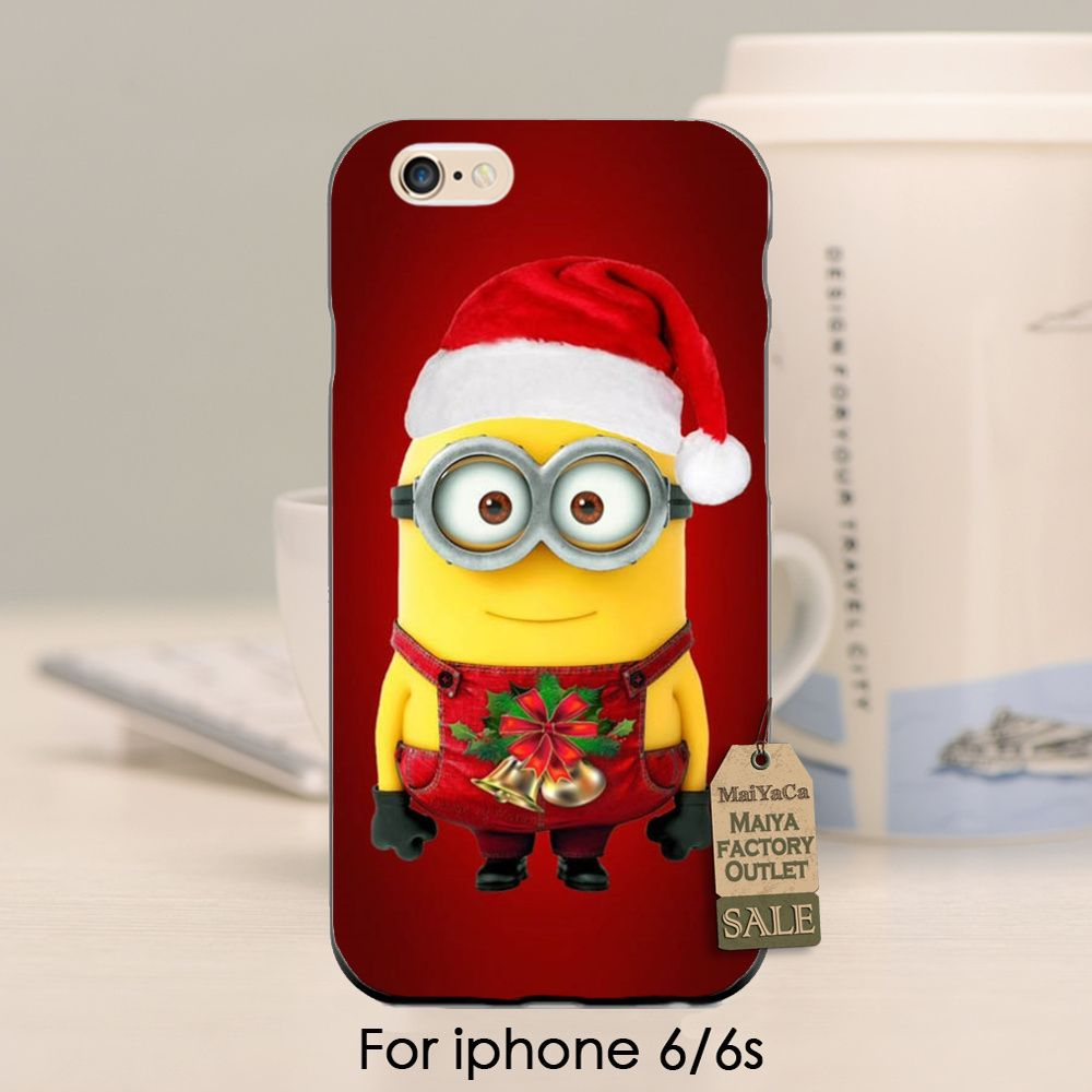 Christmas Minion cute funny High Quality phone Accessories cover For