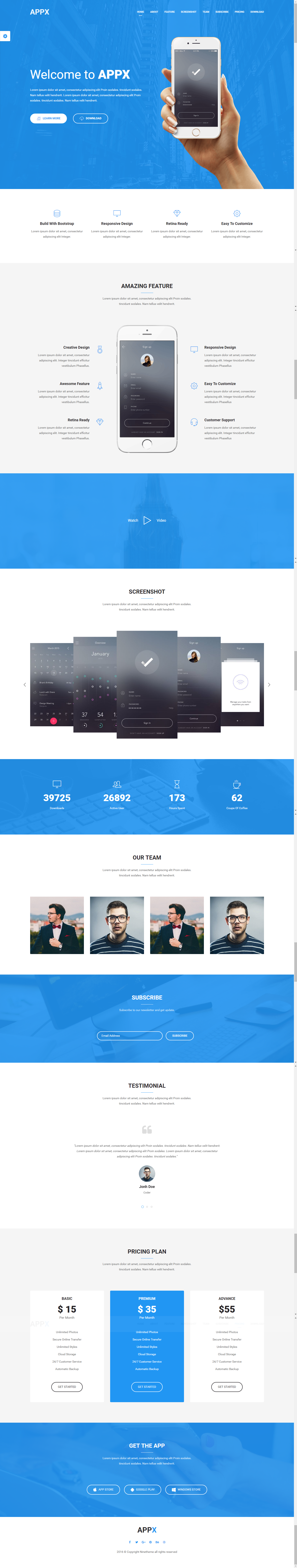 Appx - Responsive WordPress App Introduction Page Theme | Wordpress ...