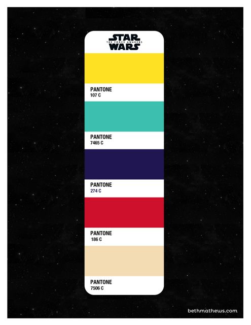 Star Wars The Force Awakens Color Palette Beth Mathews Design In