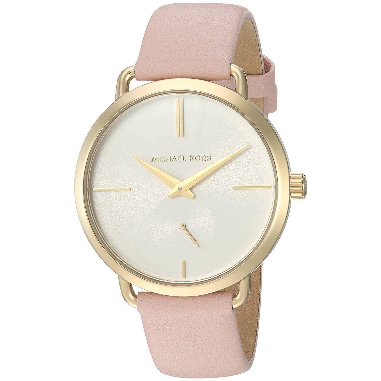 Michael Kors Women's MK2659 Portia White Dial Blush Watch