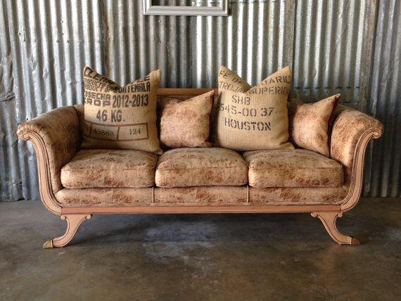 Vintage Duncan Phyfe Sofa Completely Reupholstered
