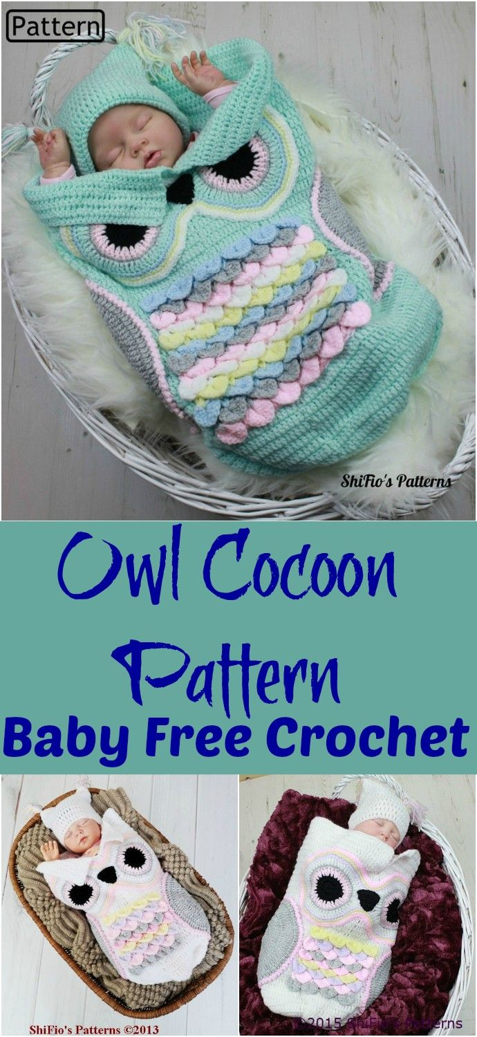 Free Crochet Baby Cocoon Patterns #crochetbabycocoon