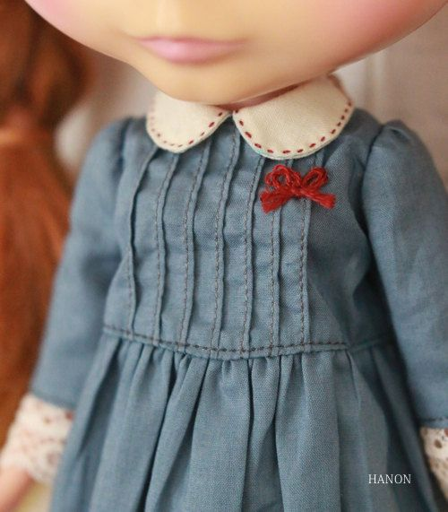 HANON Workshop kit Sandwiched lace Blue for Blythe by HANONSATOMI