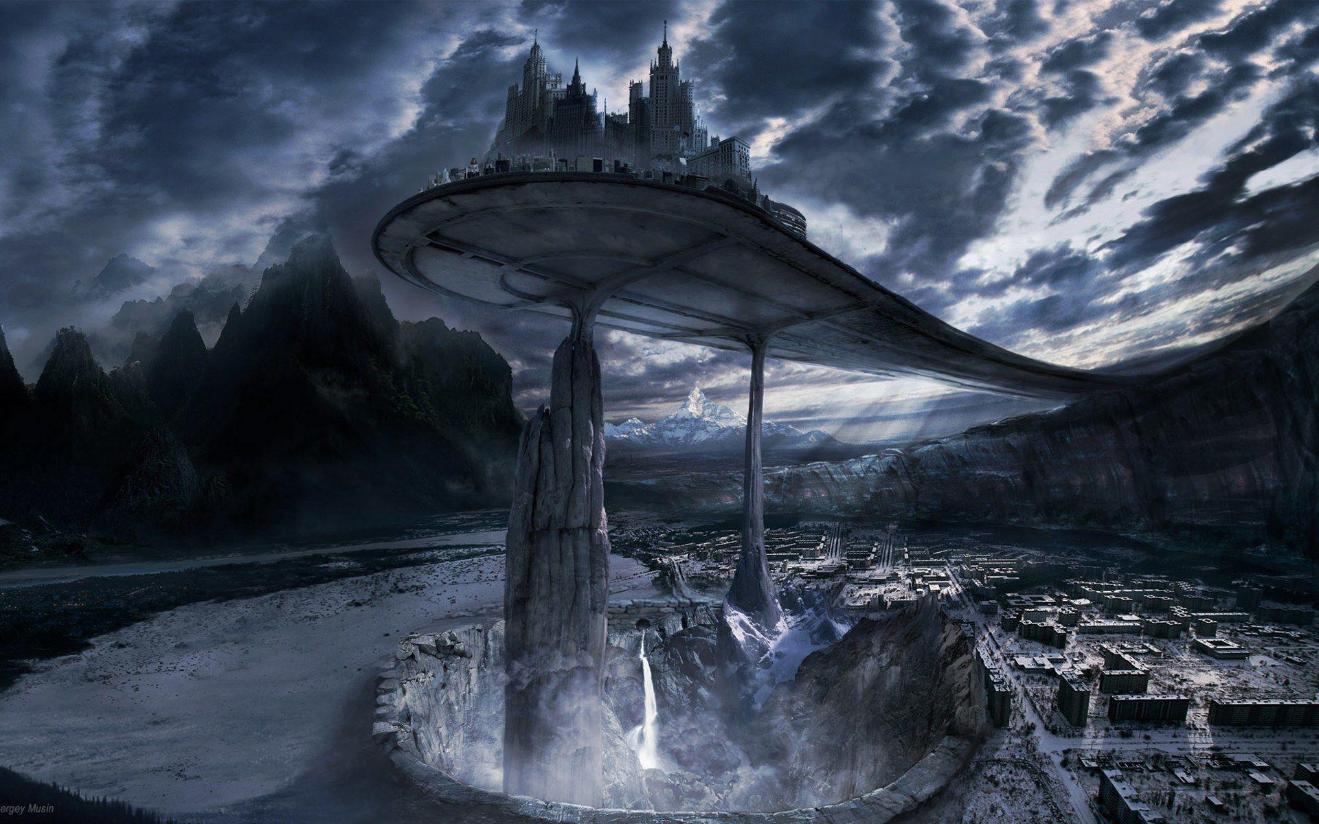 A City Above. postapocalypse scifi city   Inspirational Art ...