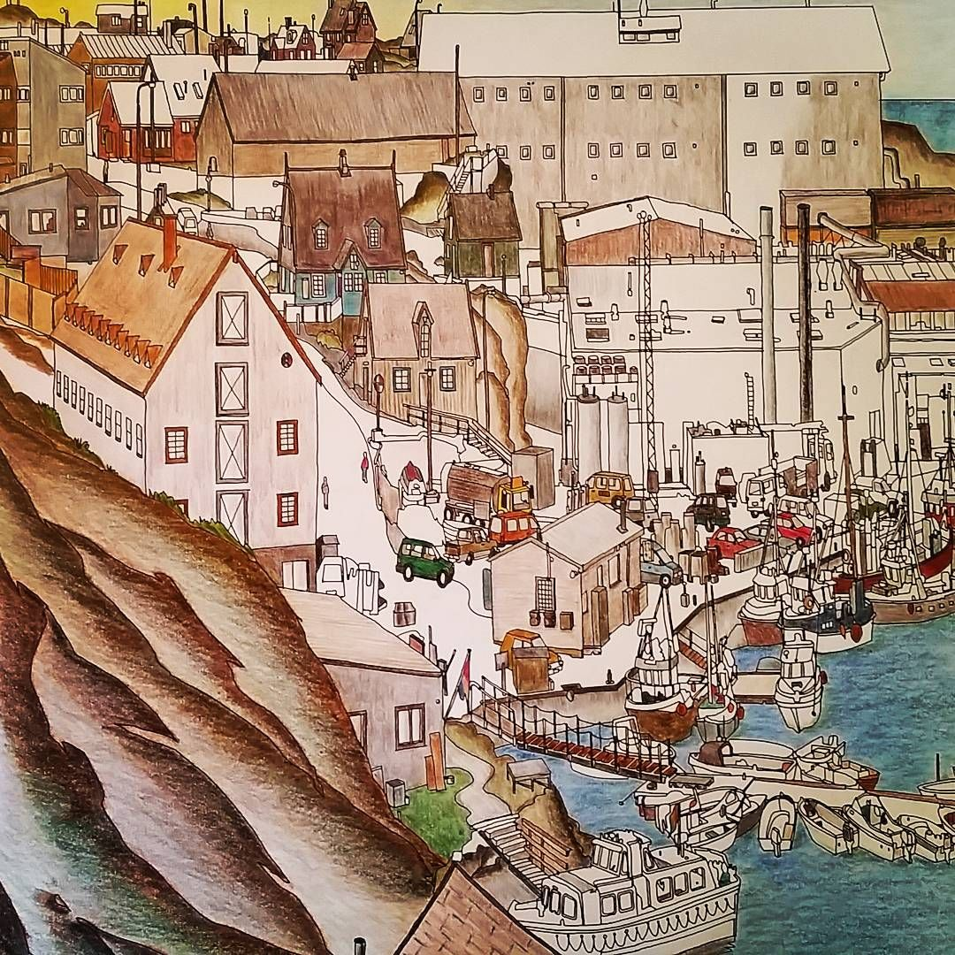 Pin by irina on Fantastic cities | Pinterest | Coloring books, City ...