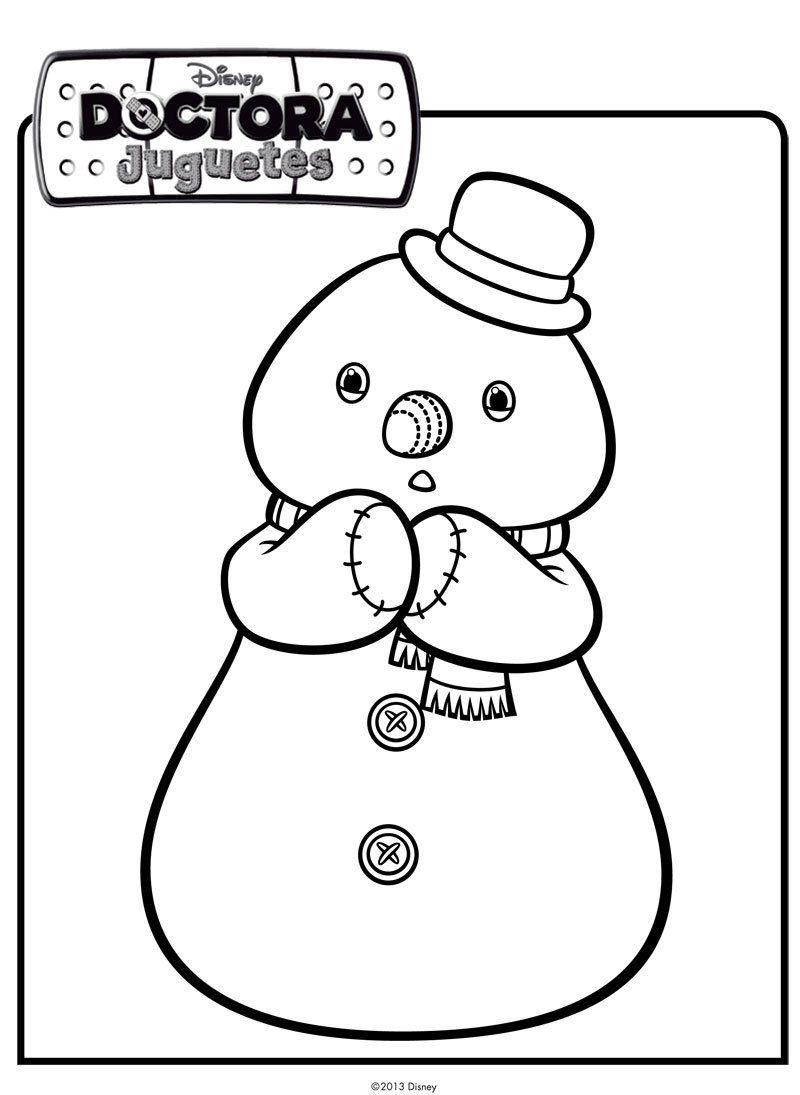Dibujo de muñeco de nieve. Dibujos de Disney para colorear | Navidad ...