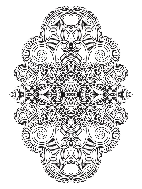 Terapia da Cor Nº3 | Mandalas, Colorear y Mandalas colores