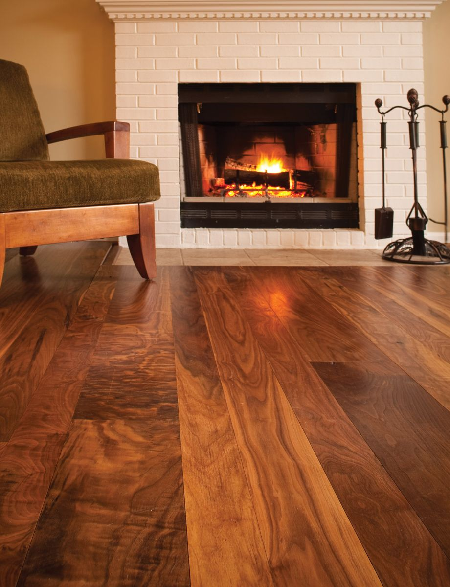 Wide plank walnut floors by renick millworks home for Walnut hardwood flooring