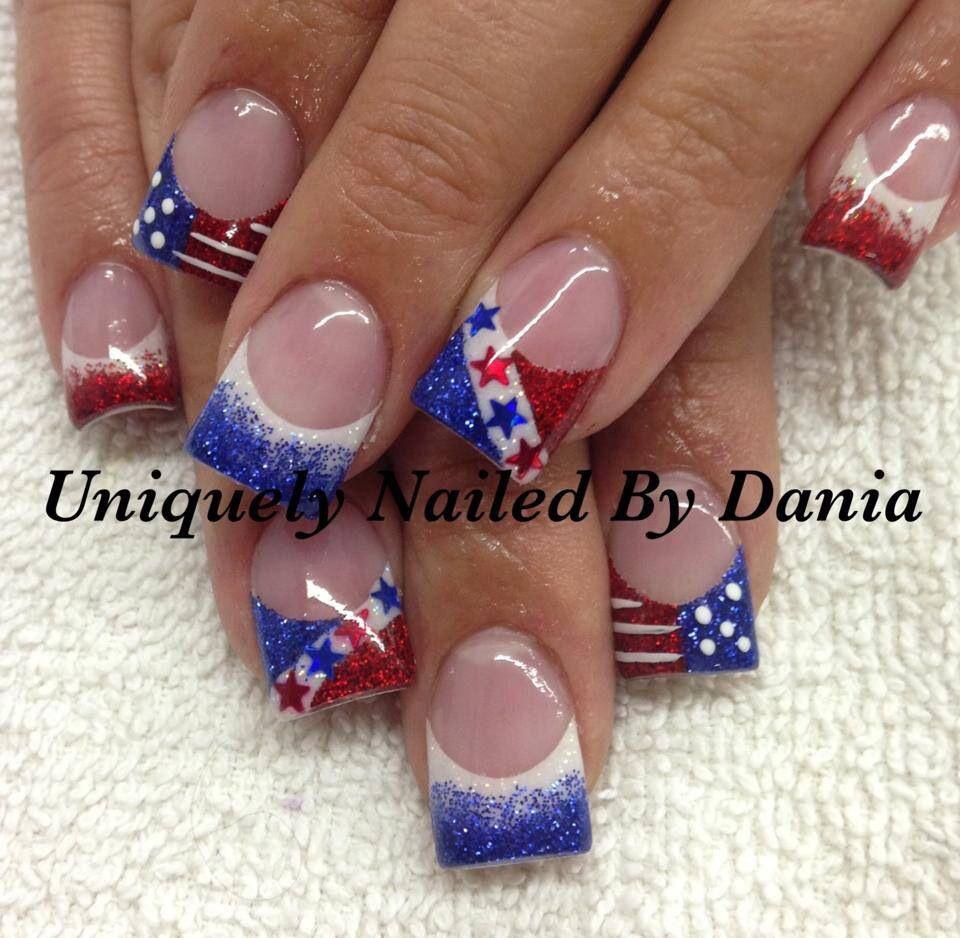 4th of July nails | 4th of July | Pinterest | Fingernägel ...