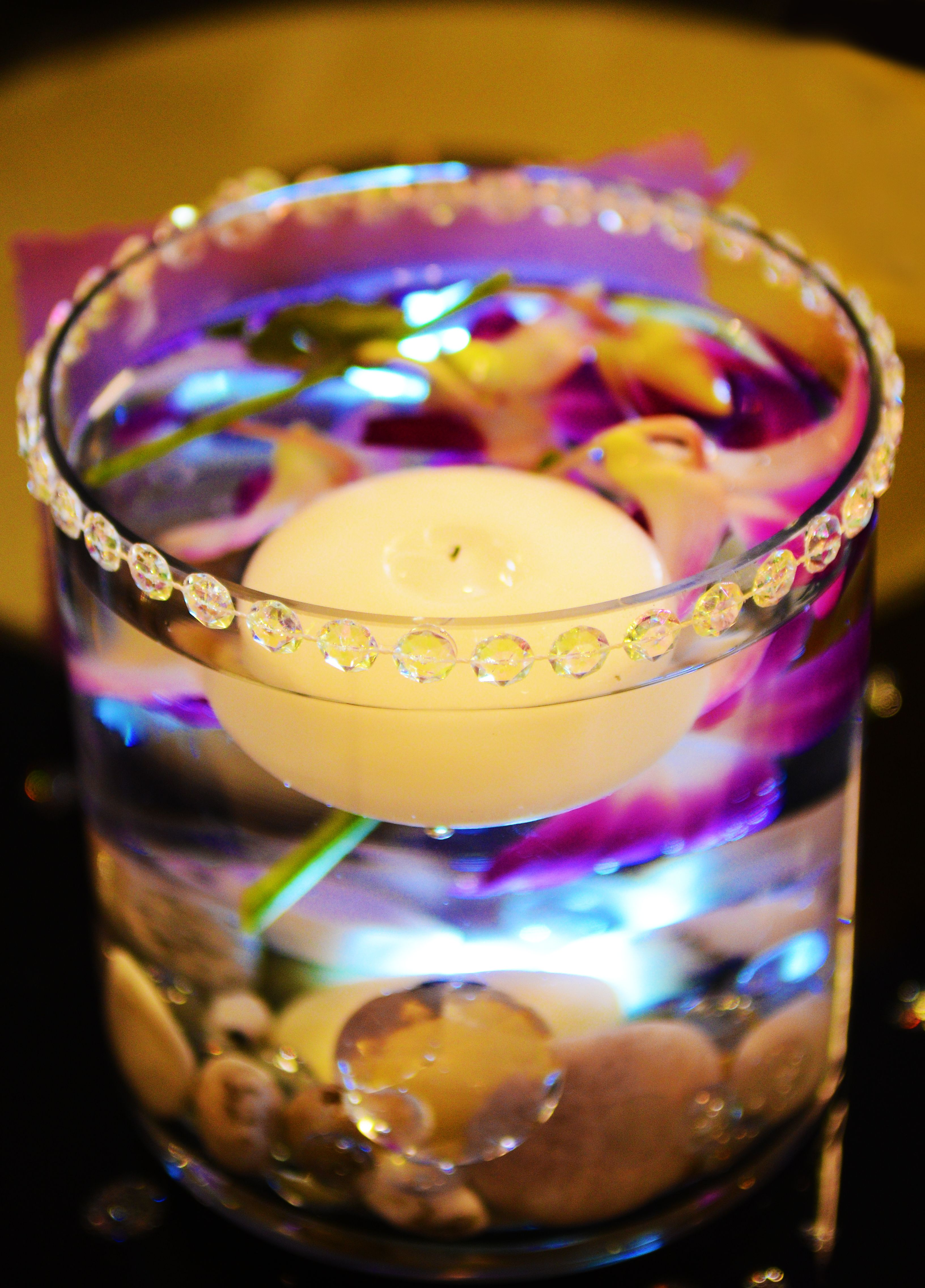 Candle flower centerpiece i hear wedding bells pinterest