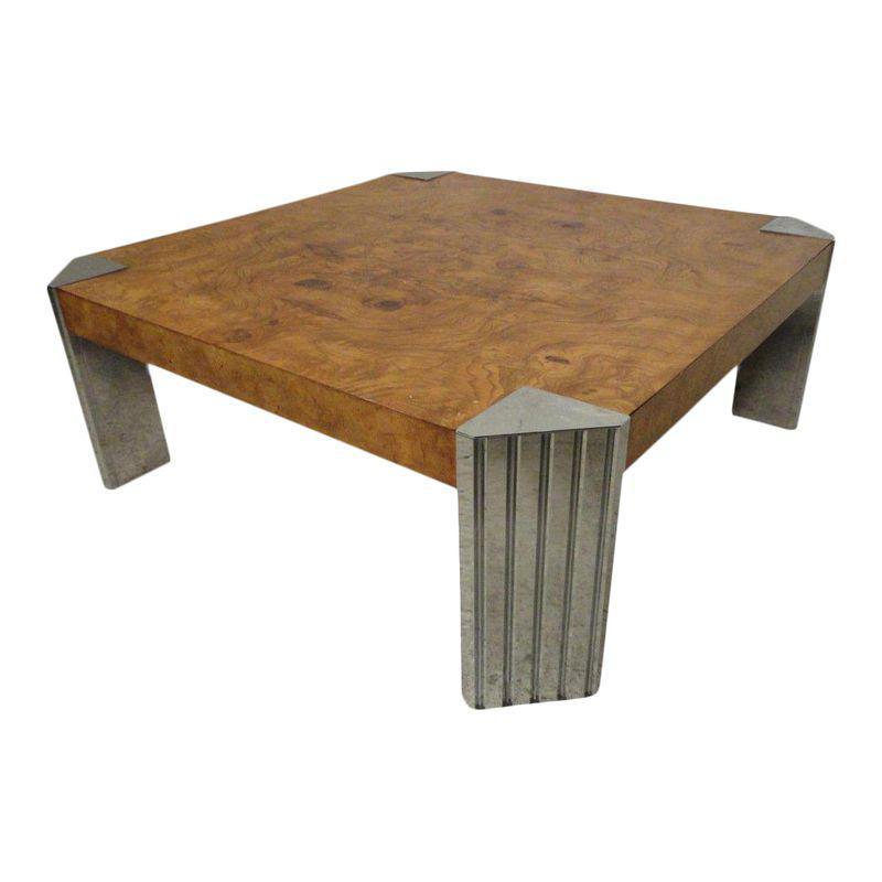 Alexander Rustic Lodge Burl Wood Curved Coffee Table En 2020