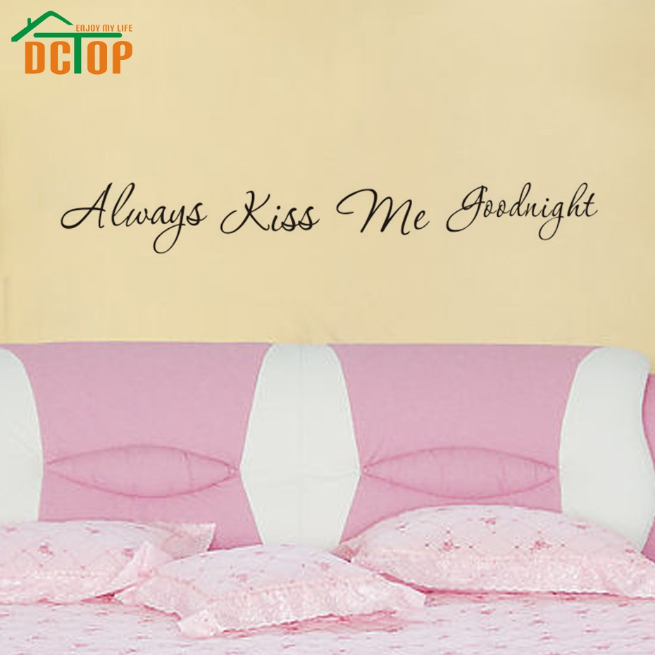 1.41$ Watch now - DCTOP Love Always Kiss Me Goodnight Vinyl Wall ...
