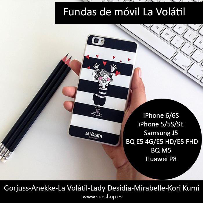 Siiiii, ya nos han llegado las fundas de móvil de nuestra amiga La Volátil, son chulísimas !!!!!!  Están disponibles para varios modelos de móvil: iPhone 6/6S - iPhone 5/5S/SE - Samsung J5 BQ E5 4G/E5 HD/E5 FHD - BQ M5 - Huawei P8  @sueshop_es #agustinagerrero #Lavolátil