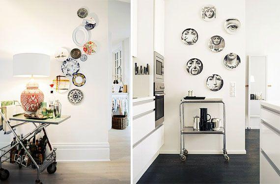 Platos para decorar y dar vida a las paredes
