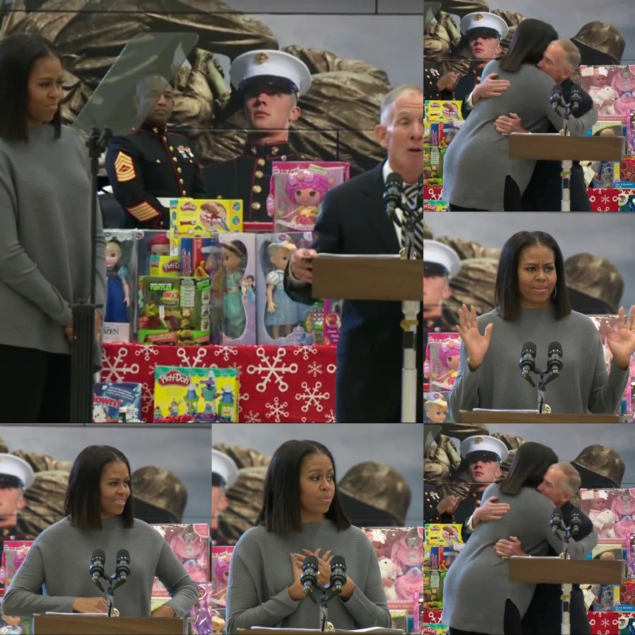Toys for tots images  FirstLady Of The United States Of America MichelleObama Toys for