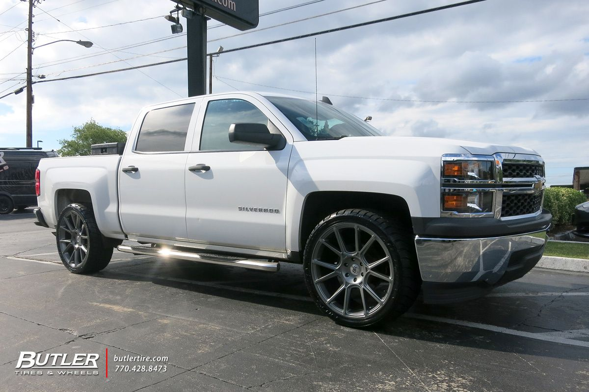 chevrolet silverado with 24in black rhino mala wheels exclusively from butler tires and wheels in atlanta ga image n in 2020 chevrolet silverado chevrolet silverado pinterest