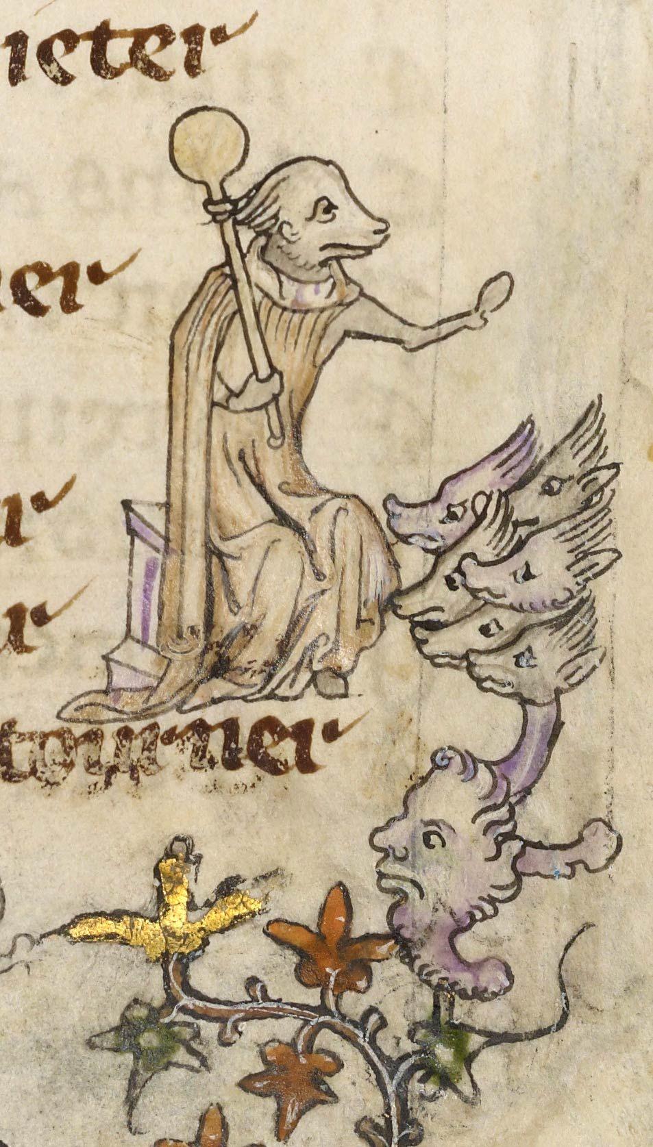Image result for medieval manuscript animal teacher
