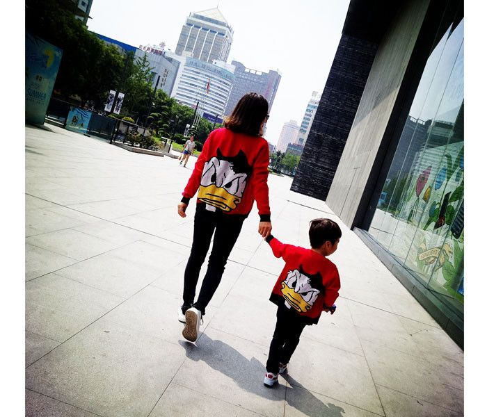 481bb39e288d Mother Son Daughter kids Clothes Family Matching Outfits look ...