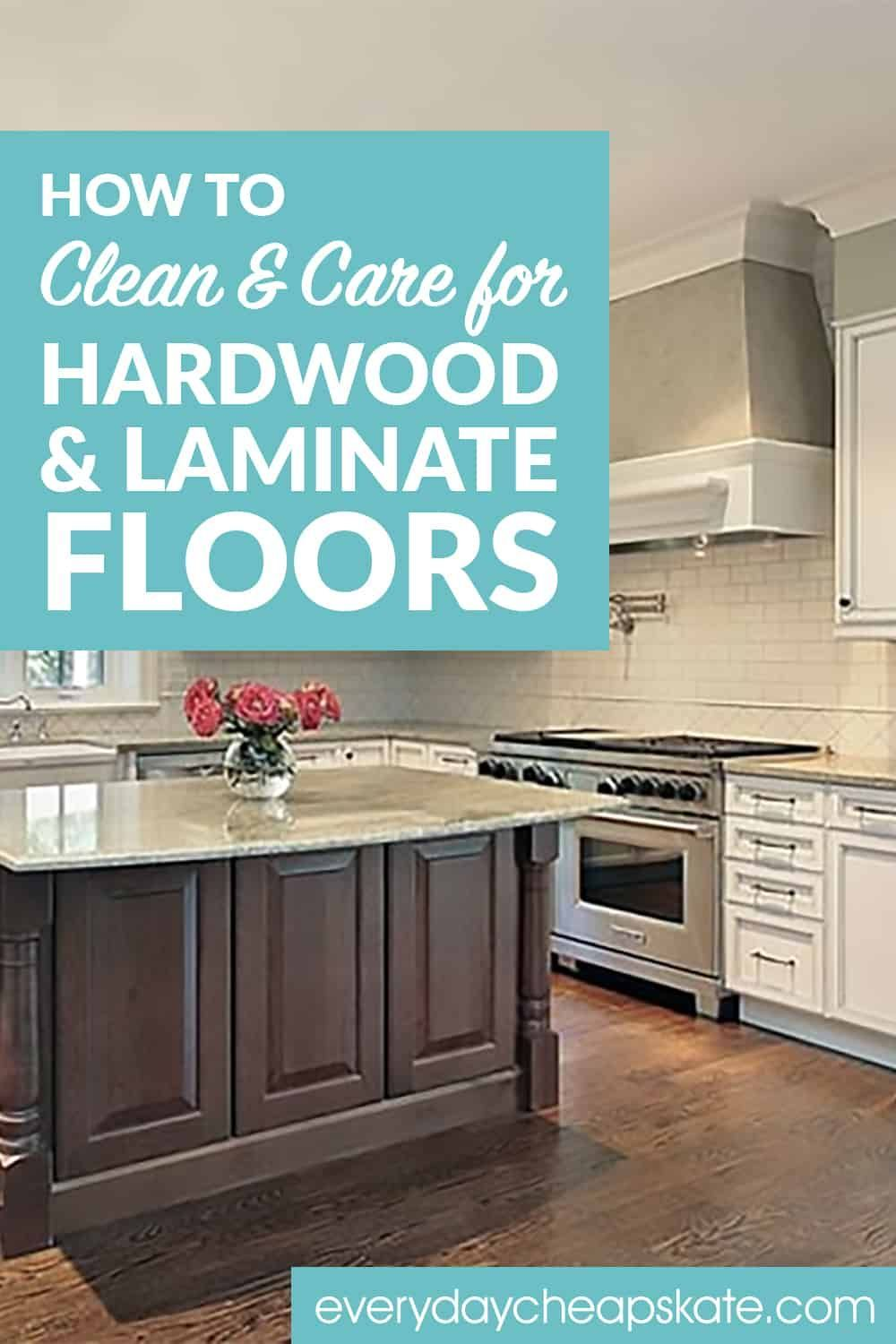 how to care for hardwood laminate flooring