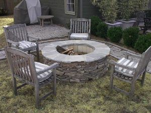 Wood Burning Stone Fire Pit Kits Outdoor And Inserts