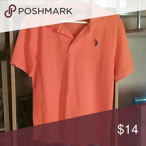 Boys Polo Shirt Very nice orange and navy blue polo shirt. U.S. Polo Assn. Shirts & Tops Polos