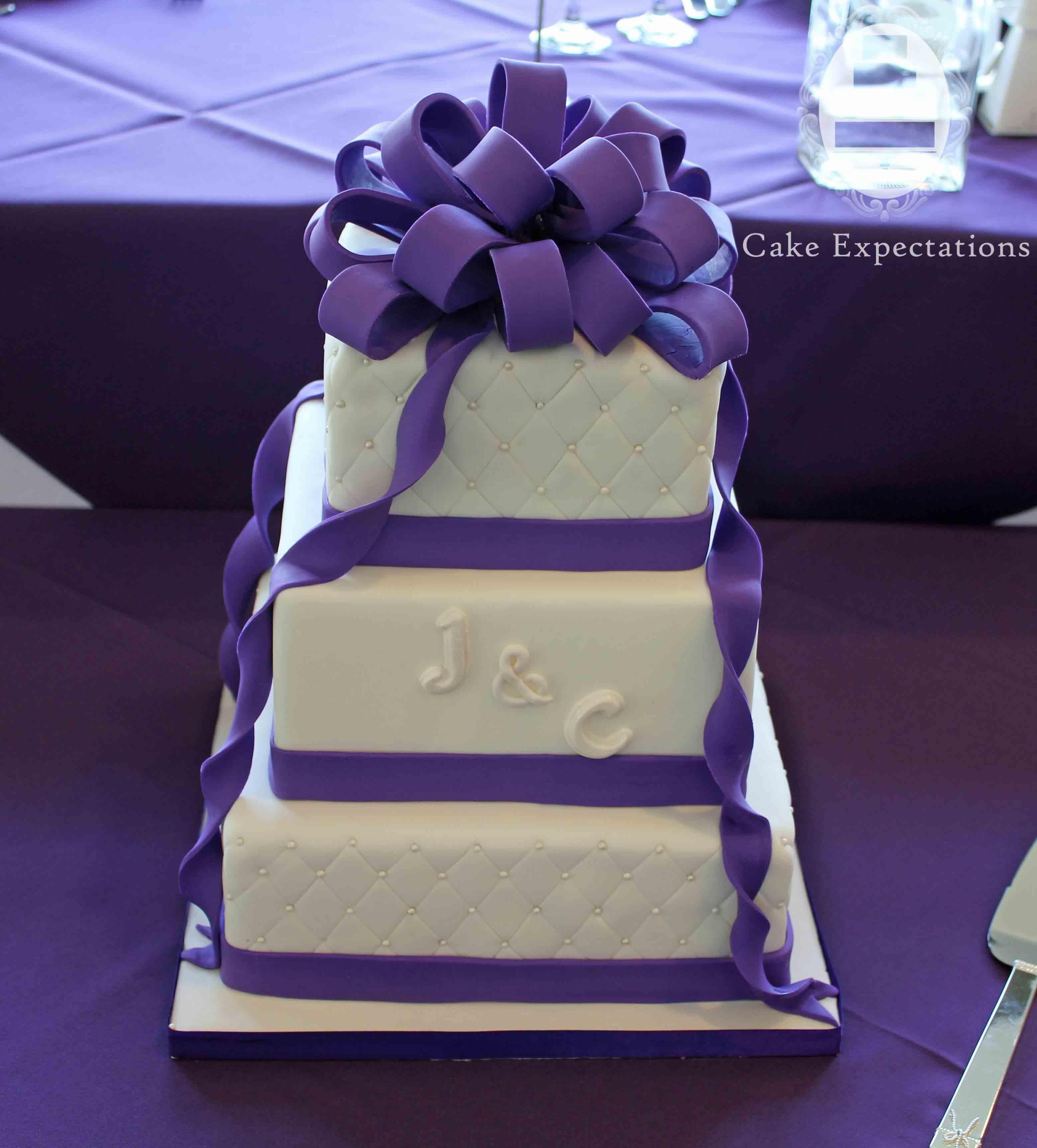 Purple Wedding Cakes #1