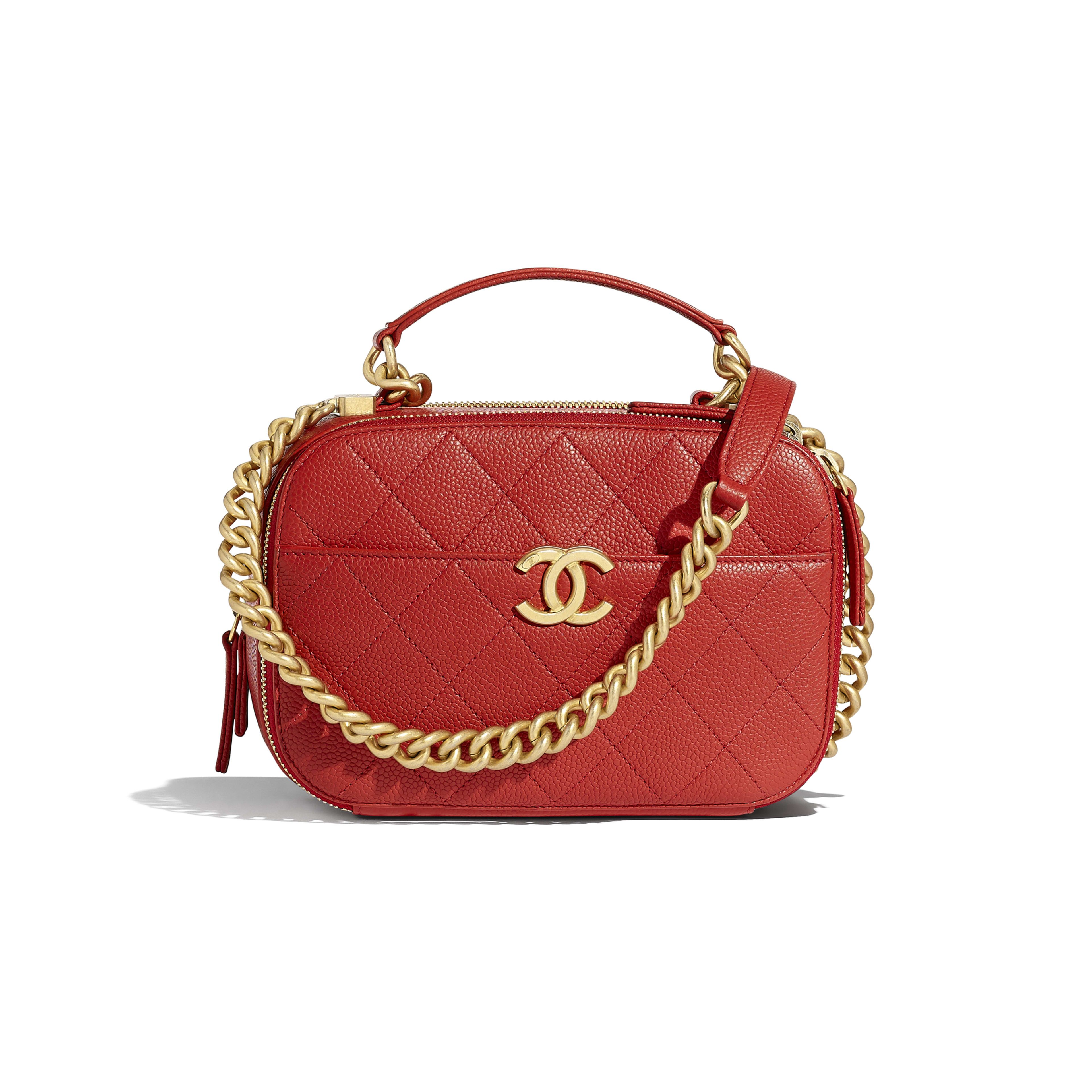 d191e5f70d85 Camera Case - Red - Grained Calfskin   Gold-Tone Metal - Default view - see  full sized version
