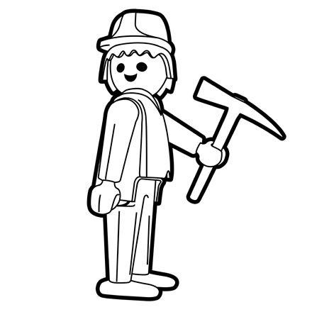 Coloriage playmobil travaux transfer infantil - Playmobil coloriage ...