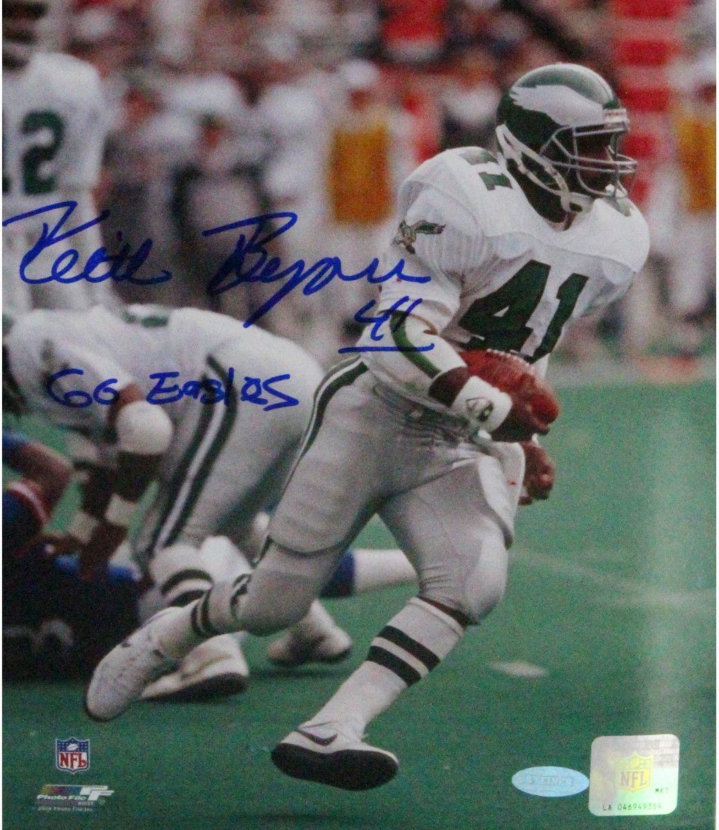 Keith Byers Signed 8x10 Photo w/ 'Go Eagles Insc'