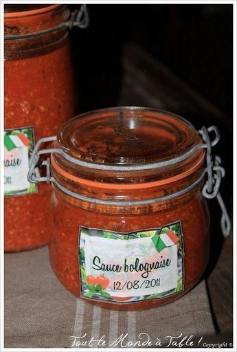 Faire des bocaux de sauce bolognaise tout le monde table conserves marinade sauce - Sterilisation plats cuisines bocaux ...