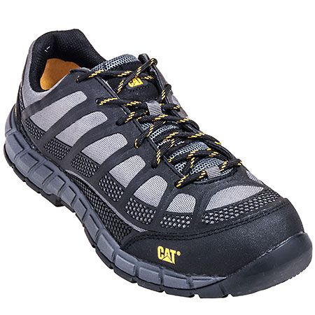 Caterpillar Men's Charcoal Black 90285 Streamline EH Composite Toe Work  Shoes. The sleek athletic-style of these Streamline shoes make them stand  out above ...