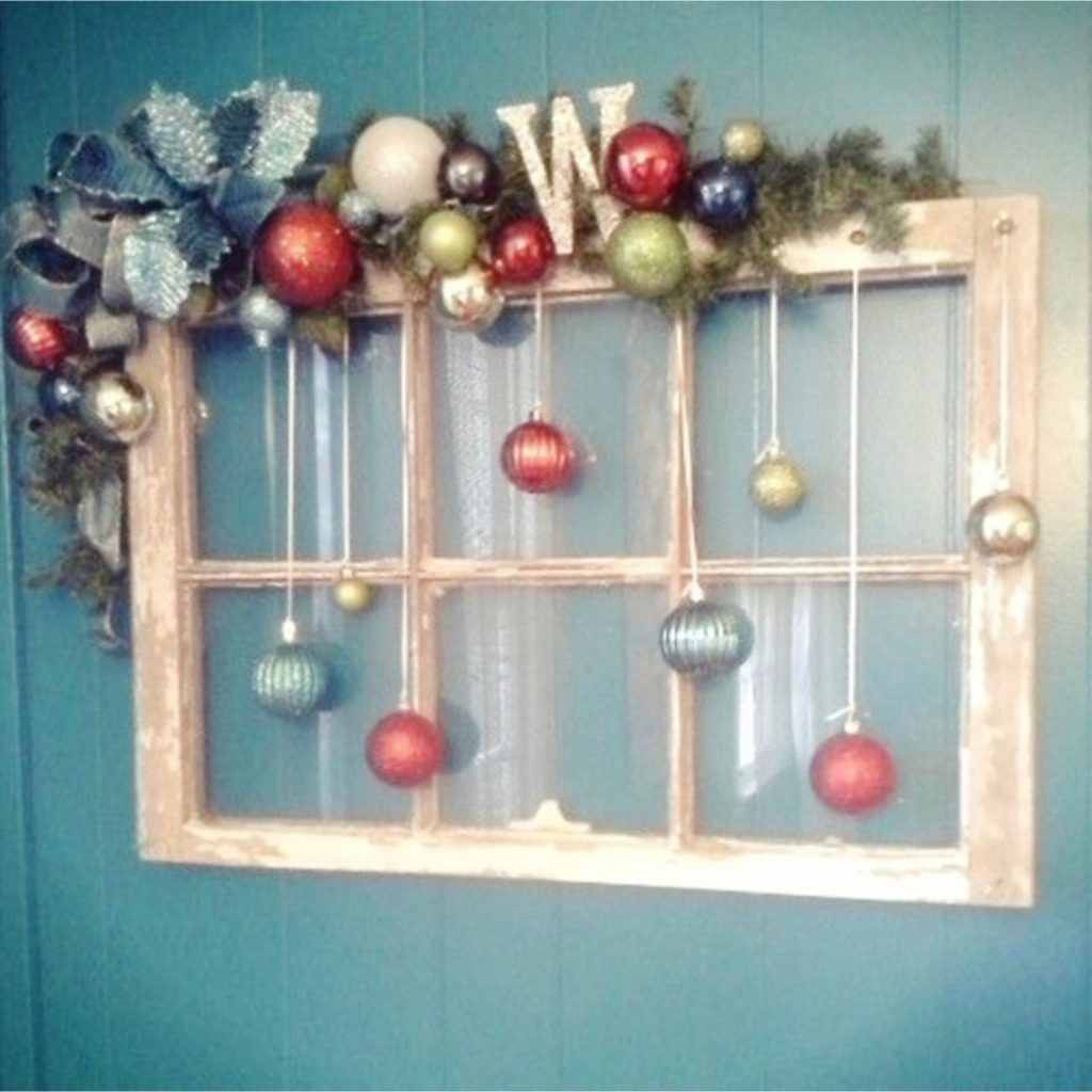 Old Window Frames Diy Ideas And Window Frame Crafts Christmas