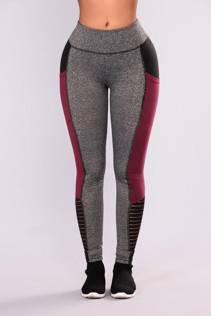 Rylee Active Leggings - Wine | Calzas, Jeans y Anatomía