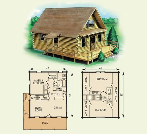 Spencer log home and log cabin floor plan a place to for 3 bedroom log cabin plans