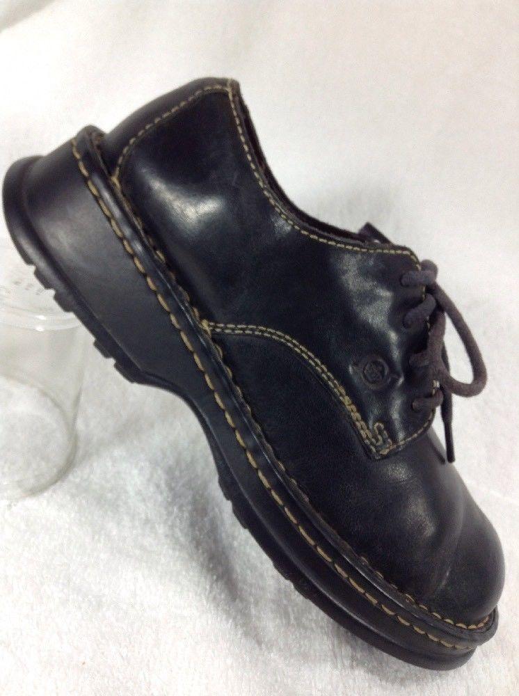 e17bfd936272 Born Womens Black Shoes 6.5 M Pebble Leather Oxfords Lace Up Women Shoe  Comfort  Brn  Oxfords  Casual  born  leather  shoes  womens  women