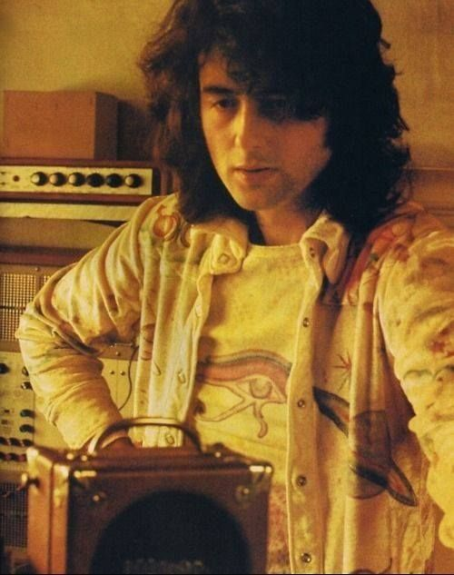Jimmy Page in another shot of him producing....