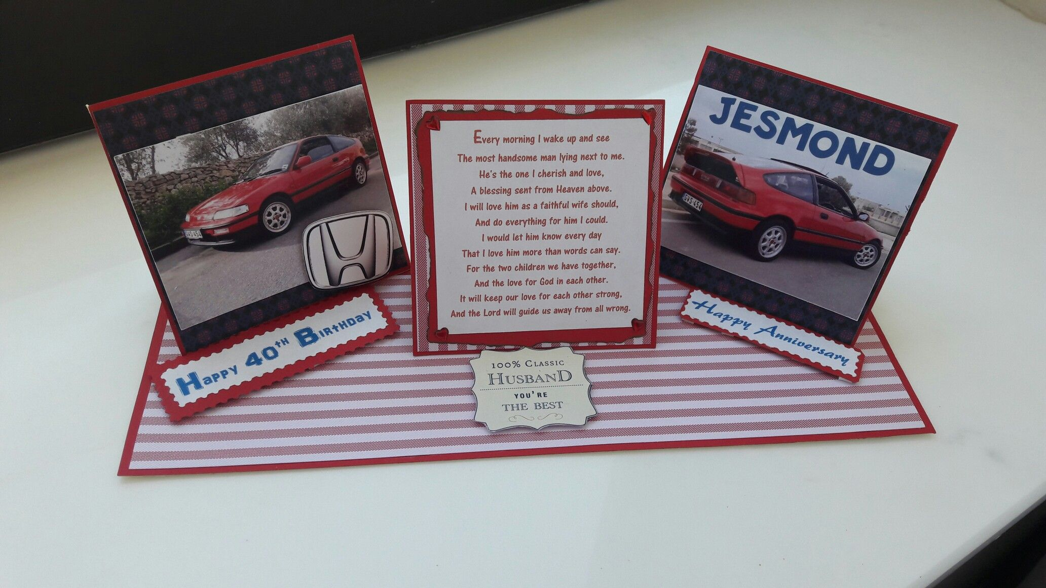 Anniversary and birthday card in stephus handmade cards
