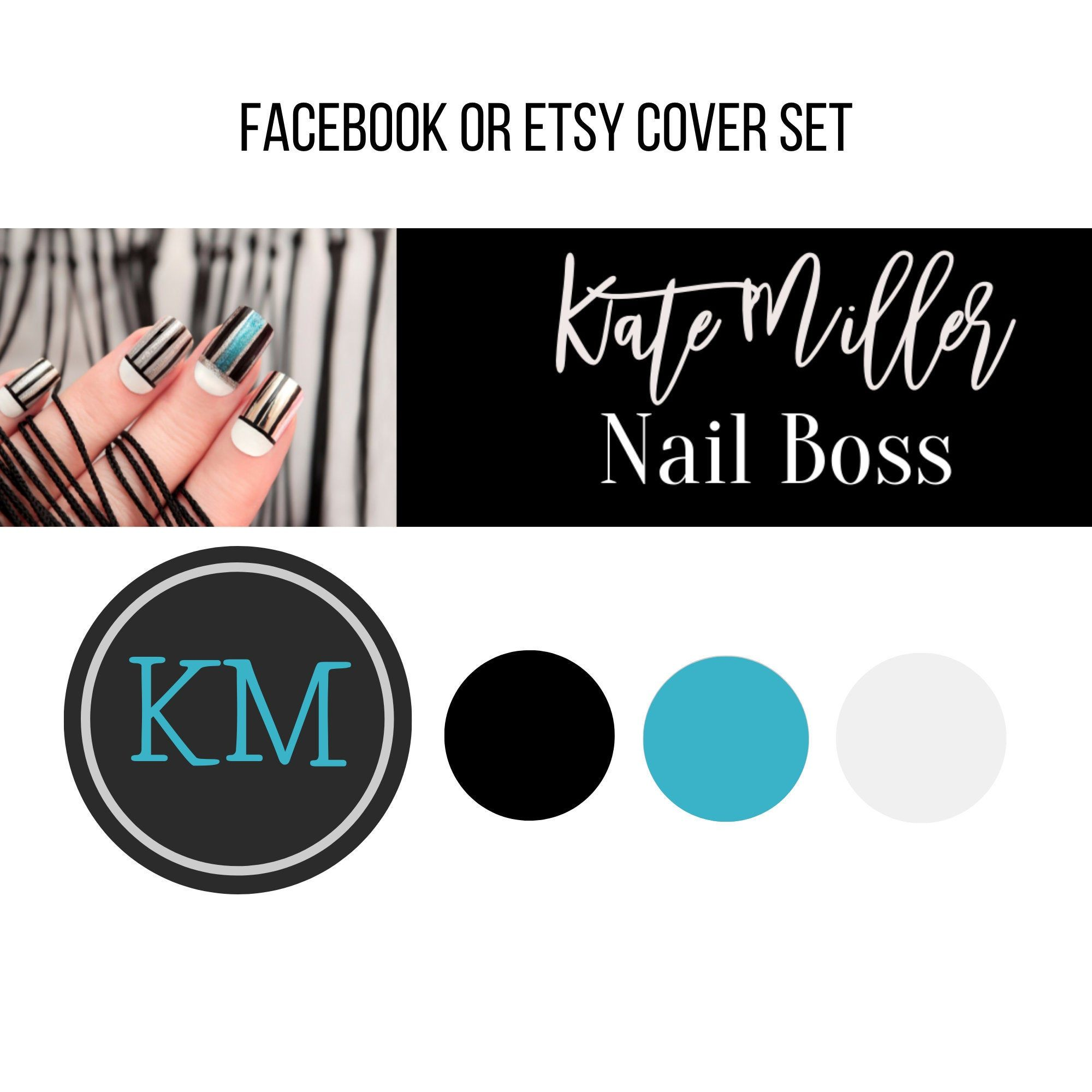 Nail Boss Etsy Banner Shop Icon Set Nails Consultant Facebook Cover And Profile Picture Set Etsy Shop Banner For N In 2020 Etsy Shop Banner Etsy Branding Etsy Banner