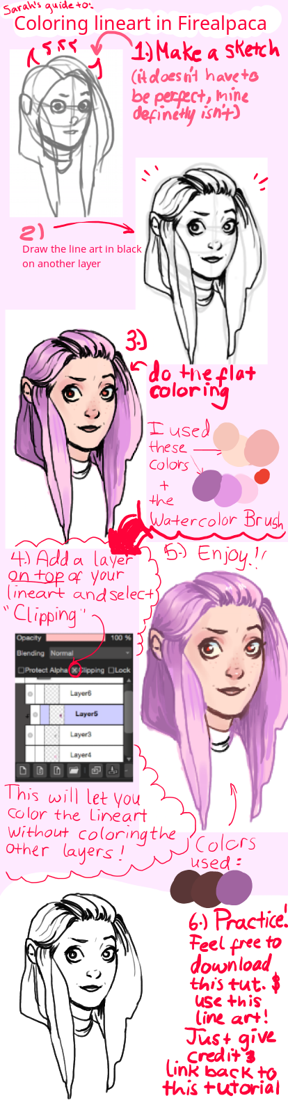 firealpaca lineart coloring tutorial base by sarahpenny10 - Paint Coloring