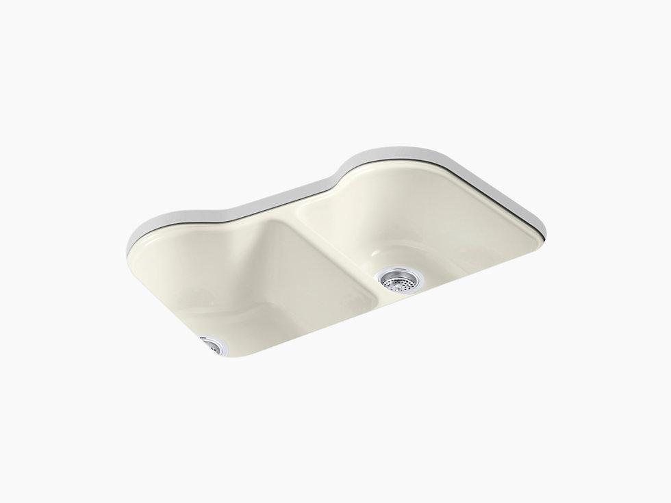 Kohler K 5818 5u 0 Hartland 33 Cast Iron Kitchen Sink