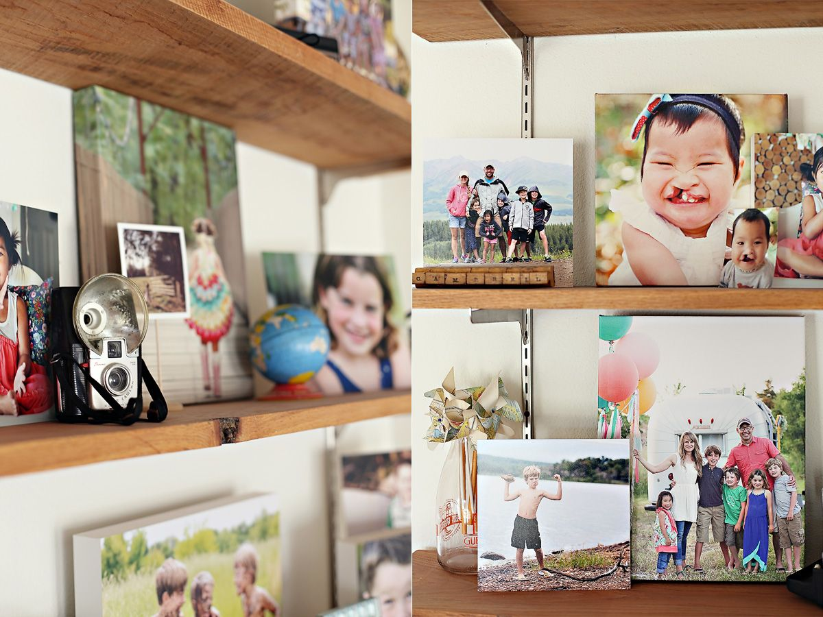 photo display {my living room shelves} | Living room ...