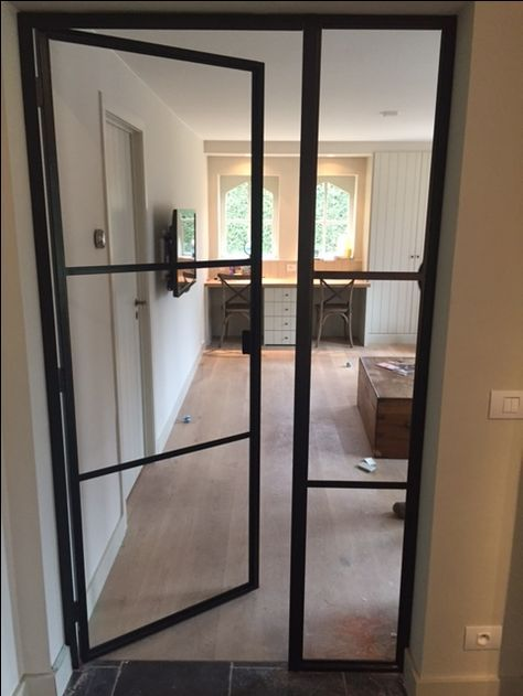 single steel door with side light. posted by smederij a.g …