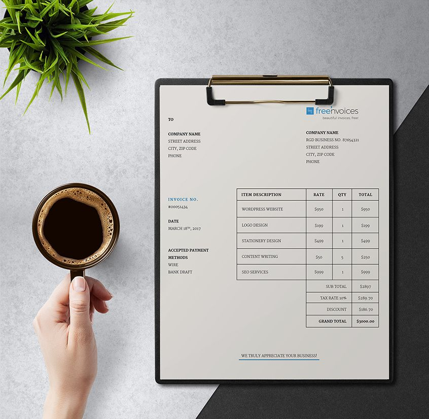 Clean Invoice Template Giveaway     Simple and Smart   Freenvoices     Clean Invoice Template Giveaway     Simple and Smart   Freenvoices  simple   invoice  template