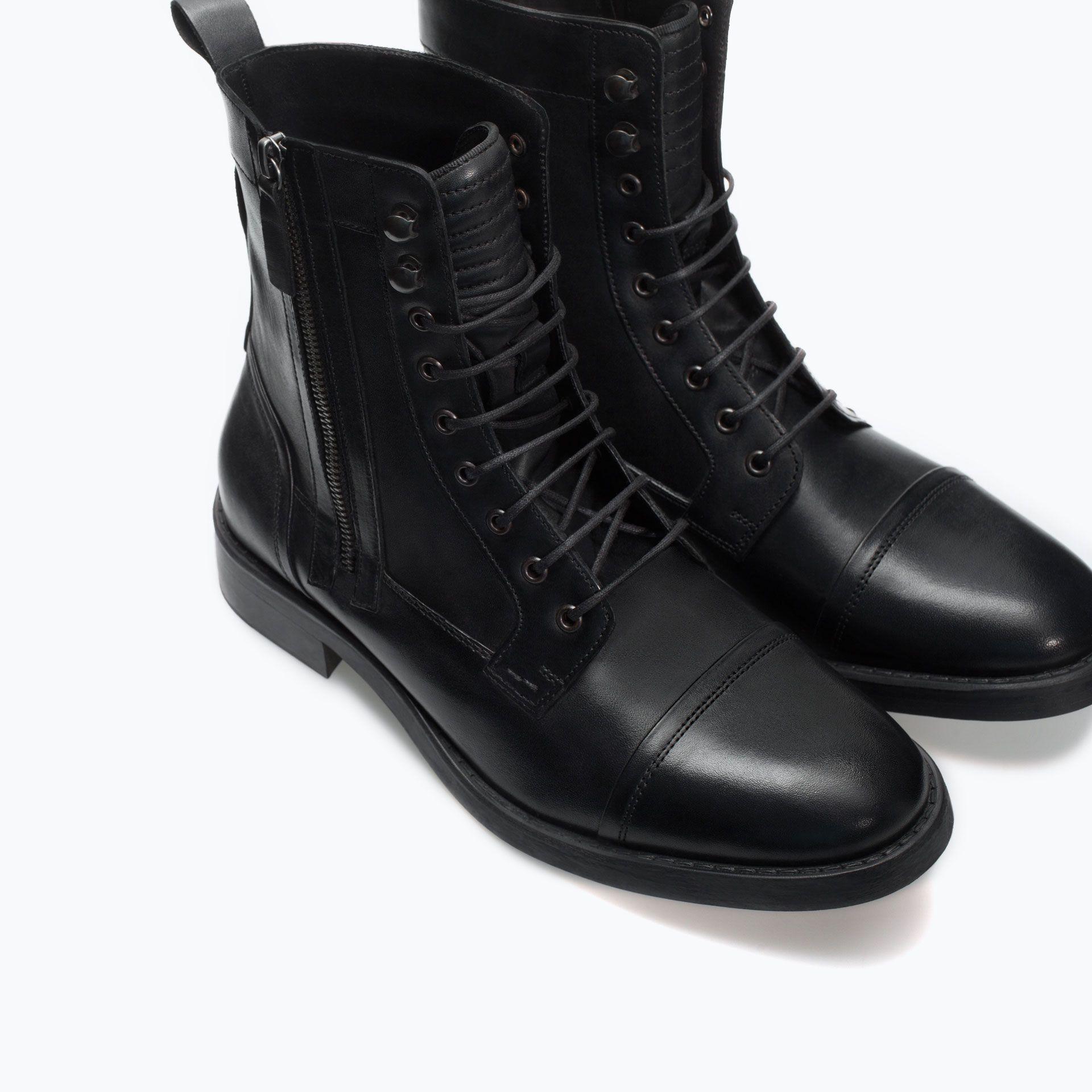 Haforever Retro Combat Boots Mens Road Captain Motorcycle Boots