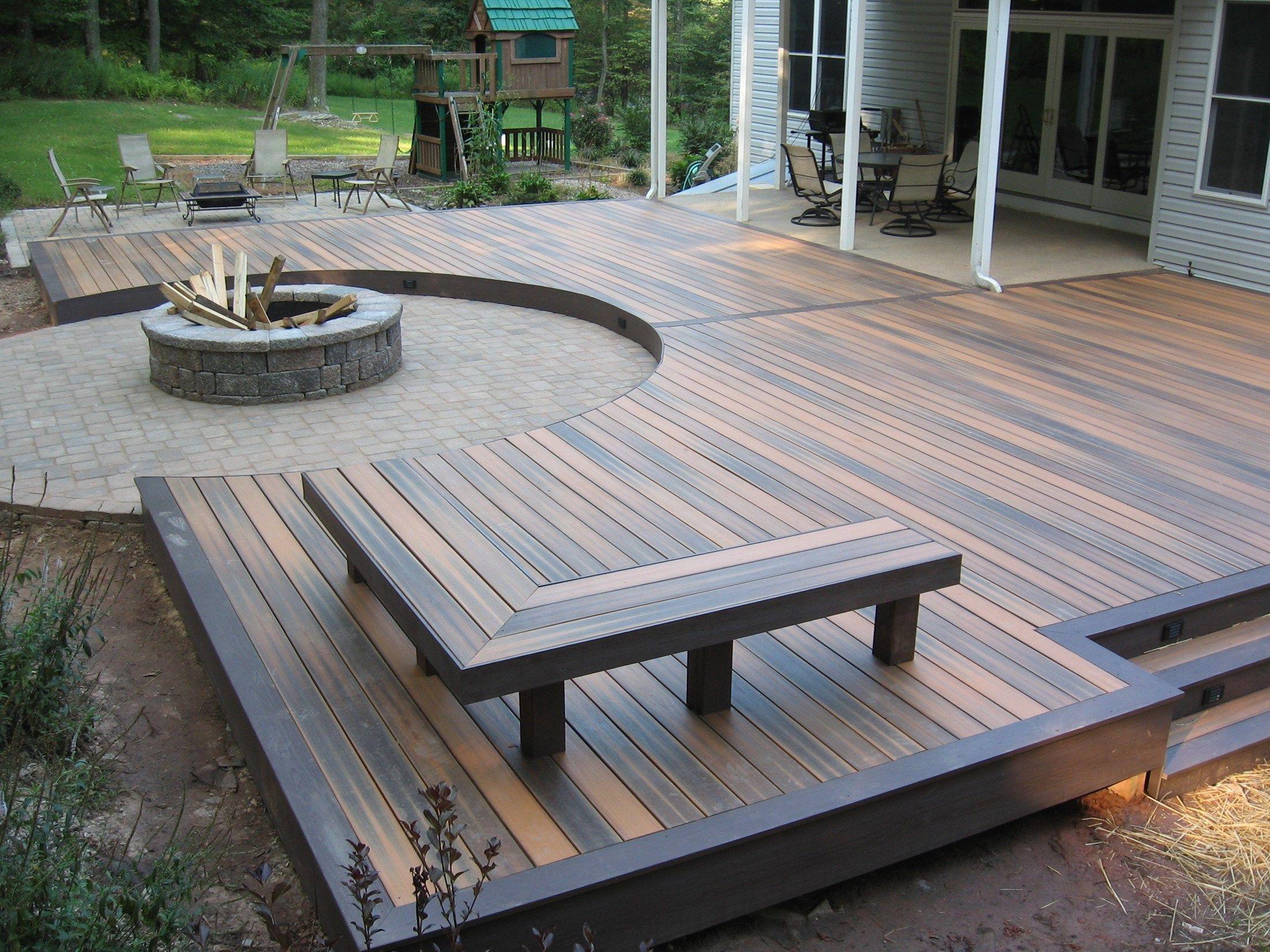 plans level patio multi in decks ground new deck ideas best