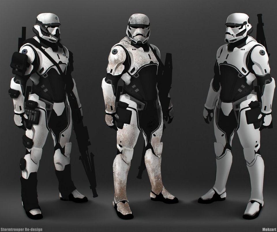 STAR WARS Fan Art - Stormtrooper Elite and Darth Vader Redesign ...