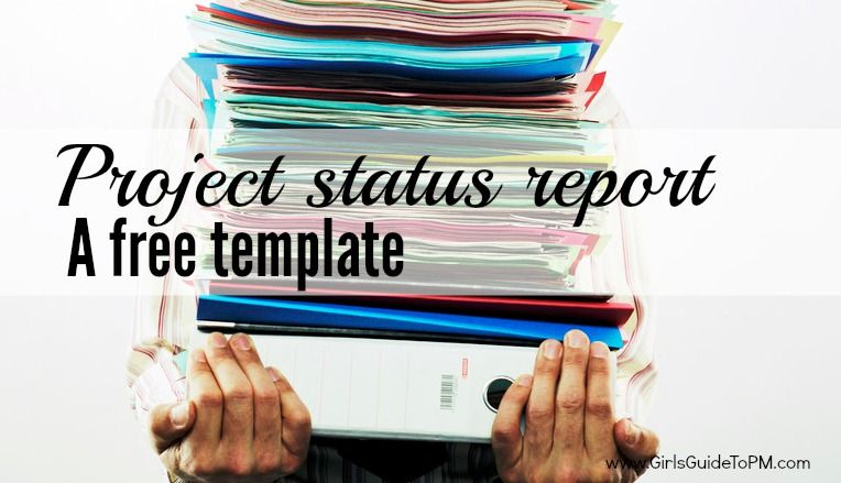 Free Project Status Report Template \u2022 Girl\u0027s Guide to Project - project manager spreadsheet templates