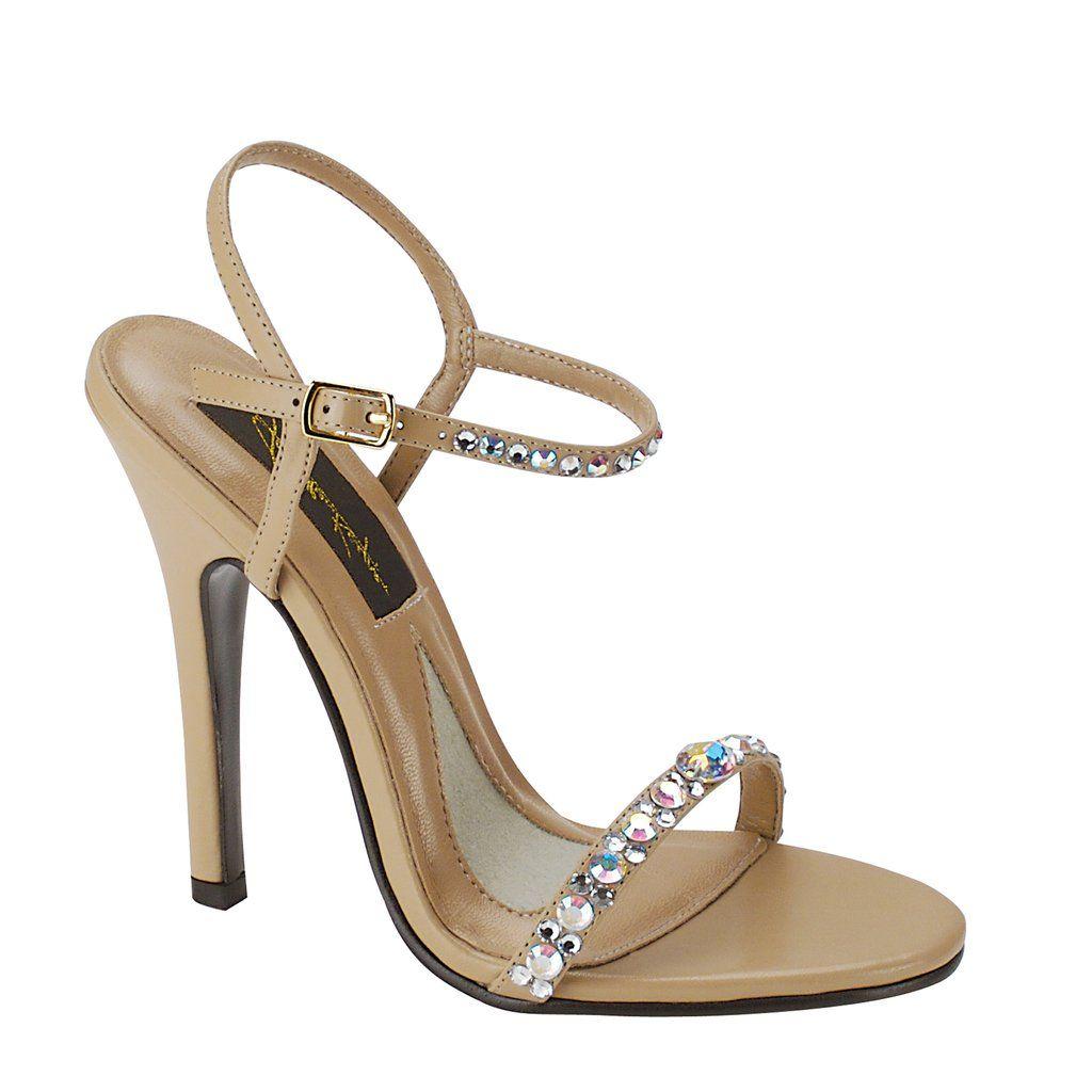 Savannah Taupe Satin - Johnathan Kayne Shoes Style 903